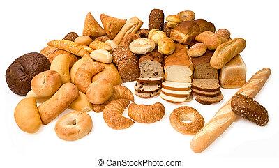 verschieden, arten, bread