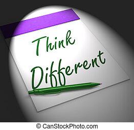 verschieden, notizbuch, ausstellungen, innovation, denken, inspiration