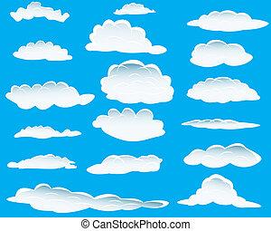 verschieden, wolkenhimmel