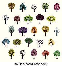 Verschiedene Bäume.
