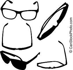 Verschiedene Brillen.