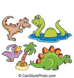 Verschiedene Dinosaurier-Sammlung
