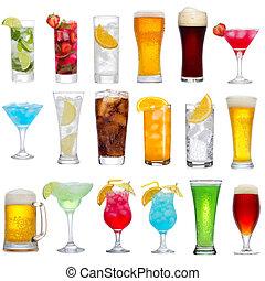Verschiedene Drinks, Cocktails und Bier