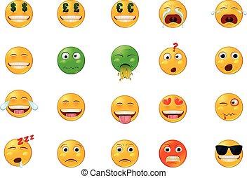 Verschiedene Emoji-Vektor-Icons.