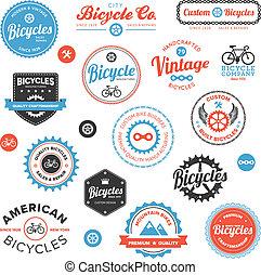 Verschiedene Fahrradmarken und Embleme