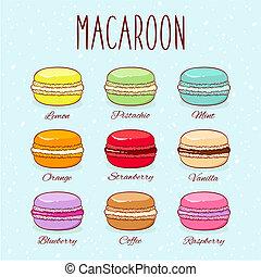 Verschiedene Geschmacks-Makronen