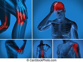 Verschiedene Körperschmerzen