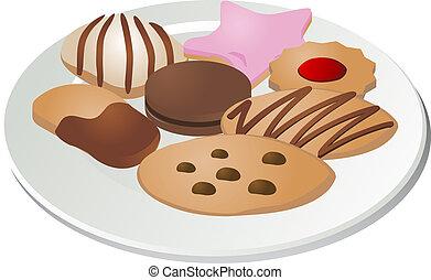 Verschiedene Kekse.
