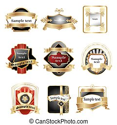 Verschiedene Logos mit Bändern