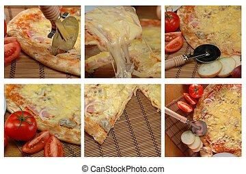 Verschiedene Pizzafotos