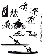 Verschiedene Sportarten.
