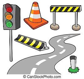 Verschiedene Straßenobjekte
