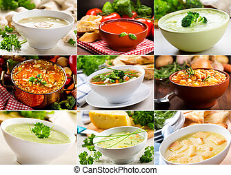 Verschiedene Suppen