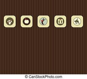 Verschiedene Symbole des Lebensstils