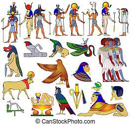 Verschiedene Themen alter Egypten