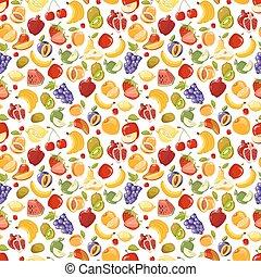 Verschiedene Vektorfrüchte nahtlos Muster