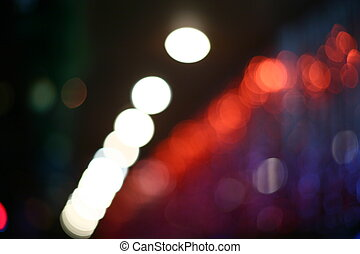 Verschwommene Lichter.