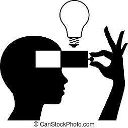 verstand, idee, lernen, neu , bildung, rgeöffnete