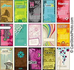 Vertikale Visitenkarten