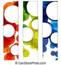 Vertikales Banner mit leeren Rahmen für dein www-Design entfernen.