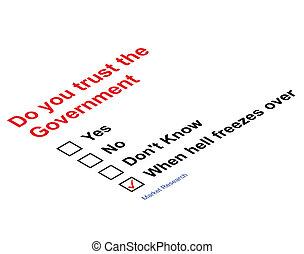 Vertrauen der Regierung