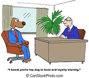 Vertrauen und Loyalitätstraining.