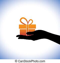 vertritt, grafik, geschenk, package., dieser, gelegenheiten, jahrestage, abbildung, zeiten, person, andere, geburstag, gifting, begrifflich, solch, giving/receiving, christmas(xmas), mögen