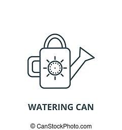 Verwässerung kann Vektorlinie Icon, lineares Konzept, Umrisszeichen, Symbol.