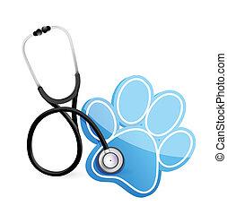 Veterinärkonzept mit Stethoskop