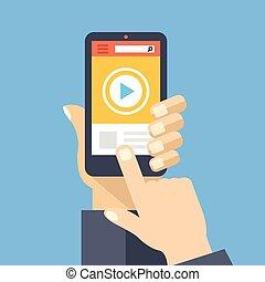Video-App auf Smartphone-Bildschirm