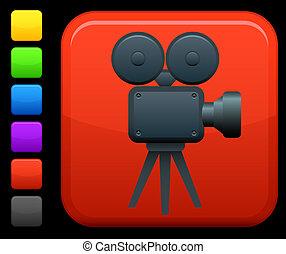 Video / Film-Icon auf dem Internet-Knopf