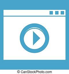 Video-Player-Icon weiß.