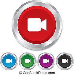 Videokamera-Symbol. Video Content Button.