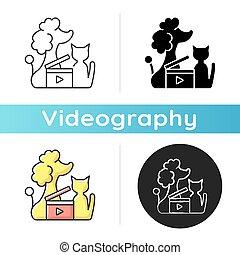 videos, ikone, haustier
