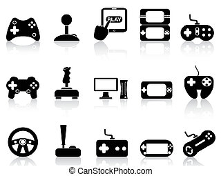 Videospiel und Joystick-Ikonen