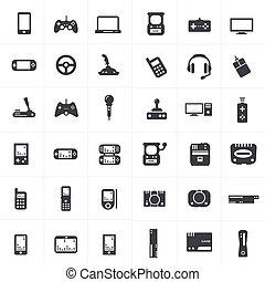 Videospiel und Joystick Symbole gesetzt.