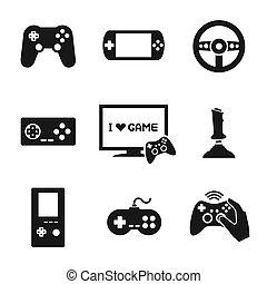 Videospiele Controller Icons gesetzt.