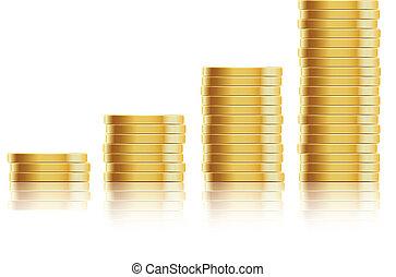 Viele Goldmünzen
