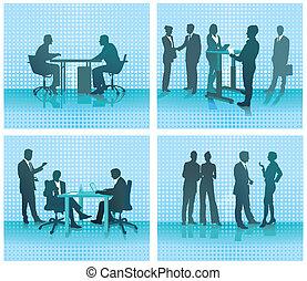Vier Büroszenen