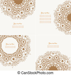 Vier dekoratives klassisches Design-Element
