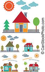 Vier Familienhäuser