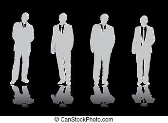 Vier Geschäftsmänner.