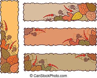 Vier Herbstbanner
