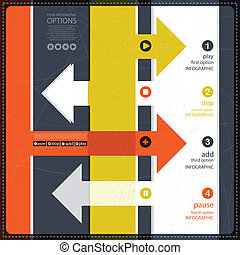 Vier Infografische Optionen