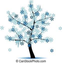 Vier Jahreszeiten Baum - Winter.