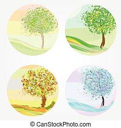 Vier Jahreszeiten - Frühling, Sommer, Herbst, Winter