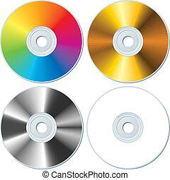 Vier leere CDs
