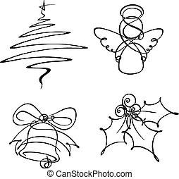 Vier Weihnachts-Ikonen