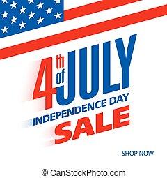 Vierter Juli in den USA Unabhängigkeitstag.
