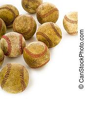 Vintage, antike Baseballs
